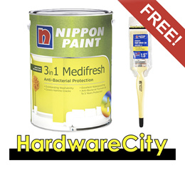 [FREE PAINT BRUSH] Nippon Paint 3-in-1 Medifresh 1L