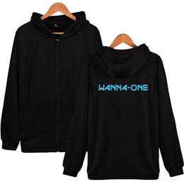 d3ad5df970fa outlet BTS WANNA-ONE Zipper Harajuku Hoodie Women Winter Korea Kpop Hooded  Sweatshirt Women Hoodie