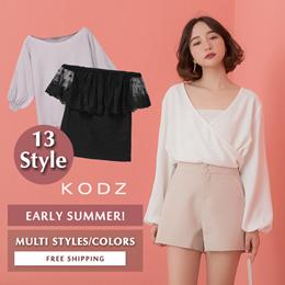 KODZ - Trendy Tops Blouses Multi Styles Women Fashion- Flash Deal