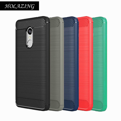 brand new 2047b f41fa HOLAZING Glossy Spigen Rugged Soft Armor Case for Xiaomi Redmi Note 4  Resilient Shock Absorption and