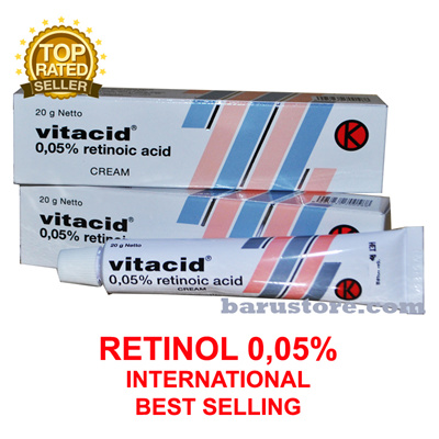 Vitacid 0.05% Cream Vitamin A for Anti Acne Wrinkles