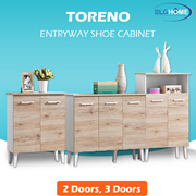 【TORENO】 Multifunction Shoes Cabinet/Modern Wood Shoe Organizer/Household Furniture/Shoe Compartment