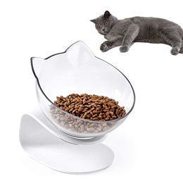 Pets Bowl With Stand White Elevated Cat/Dog Water Bowl Detachable Dish Bowl