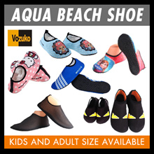 Aqua beach shoe kids to adult sizes suitable for indoor/outdoor wear.Swim/Surfing/Barefoot /hello ki
