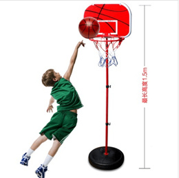 Best selling childrens toy basketball hoop adjustable high and low fitness toys 1.5 m shooting room