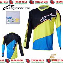 Baju Jersey Sepeda Downhill ASTAR GC Hitam Kuning Biru