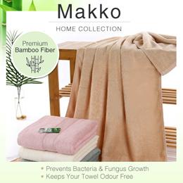[MAKKO] Premium Quality Bamboo Fiber Bath and Face Towel
