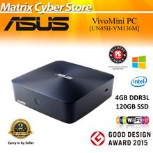 ASUS UN45H-VM136M Vivo Mini PC Intel Celeron Quad-Core N3150. 120GB SSD | 4GB D3 Window 10 | 4K/UHD display support. 2 Year Warranty!