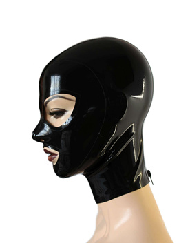 Latex Mask Open Eyes and Mouth Rubber Unisex Hood Unique Club Wear