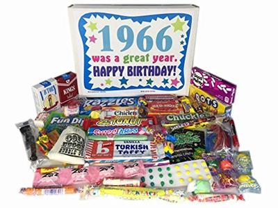 50th Birthday Gift Basket Box 1966 Retro Nostalgic Candy 60s Decade