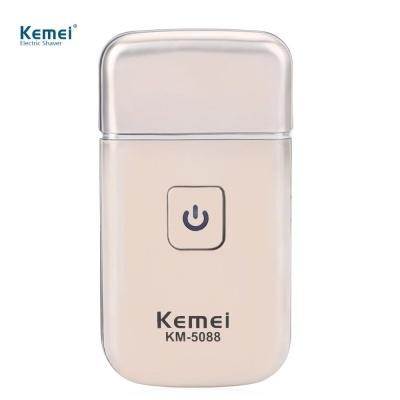 Kemei KM - 5088 Mini USB Rechargeable Reciprocating Blade Electric Razor Shaver for Men