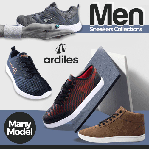 [BEST SHOES] ?ARDILES? Men Sneakers Collection // Sepatu Sneaker Pria Ready Size 38-43 Deals for only Rp124.900 instead of Rp145.233