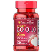 Puritans Pride Q-SORB™ Co Q-10 50 mg / CoQ-10 Coenzyme Q-10 / 100 Softgels / Item #002386
