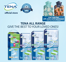 [Slip Plus Free 6pcs][Free HeatPad][Free Shipping][Apply Q10 Coupon] TENA Adult Diapers Carton Sale