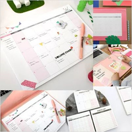 [PLAN D] Office Stationery - Weekly Desk Note Pad / Daily Desk Note Pad / Desk Memo Pad available in 3 Types