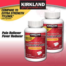 미국 커클랜드 아세트아미노펜 타이레놀 Kirkland Signature Extra Strength Acetaminophen 500 mg 1000정/500정