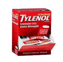 Tylenol Extra Strength Acetaminophen Caplets, Dispenser Pack, 2 Caplets, 50 ct