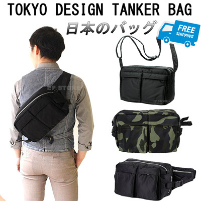 ☆Tokyo Design Yoshida☆ Tanker Sling Bag Biker Bag Casual bag Messenger 3e72abd89a954