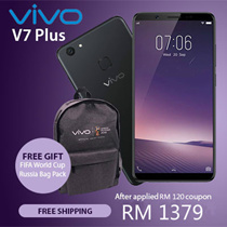 ReadyStock [Buy at RM 1379 with RM 120 Coupon Discount !] VIVO V7Plus 4GB + 64GB Smartphone