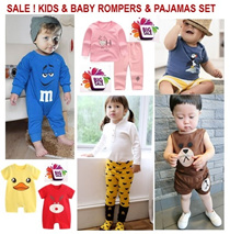 [ORTE] Big Sale★Top n Pants Set★Baby Pajamas★Rompers★ Diapers Friendly★ 100% cotton baby clothes★