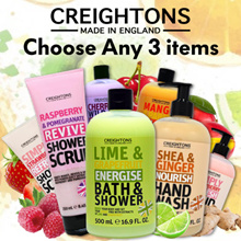 FREE QXPRESS! 🌟ANY 3BOTTLES!🌟CREIGHTONS BATH AND SHOWER 5 ASSORTED FLAVORS 500ML