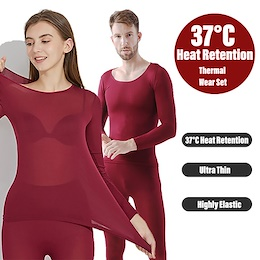 Ultra Soft Thermal Inner Wear Winter Underwear Long John Set Unisex 37 Degree