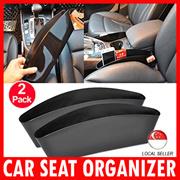 Car Seat Car Side Organizer Catcher Leather Slit Pocket Drop Catcher Fills Gaps  Car Accessories
