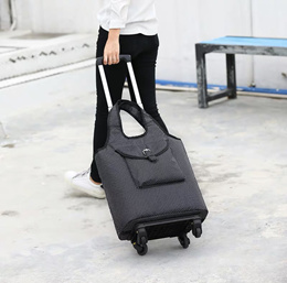(Latest design)  Grocery Shopping Marketing Trolley Bag foldable 4 wheel Travel