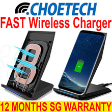 CHOETECH T520 10W 2 Coil Fast Wireless Qi Charger Stand for Qi-Enabled Device