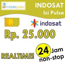 Pulsa Indosat Rp. 25.000- REALTIME 24 jam non-stop! Menambah Masa Aktif (Mohon baca cara pengisian di bawah)