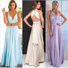 Sexy Women Maxi Dress Red Beach Long Dress Multiway Bridesmaids Convertible Wrap Party Dresses