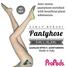 [Propeds-Sarah Borghi](1310491)40 Denier Natural Leg Care Pantyhose 78%Nylon 22%Lycra
