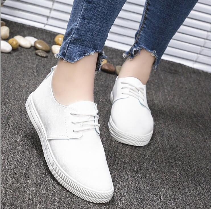 small white shoes wild sports belt