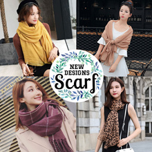 ❅ NEW DESIGN SCARF ❅ PLAIN / PATTERNED / CHECKERED ✻ KOREAN / FASHION ACCESSORIES✻ VOILE SHAWL/ WRAP