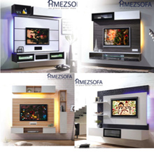 MOUNT UR TV ON [FEATURE WALL + TV CABINET]  *WHOLE SET* / (For Solid Wall Only + Free Installation