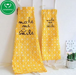 Cotton Kitchen Apron Kids Women Apron Funny Creative Printed Sexy Aprons Kitchen With Pocket Hand To