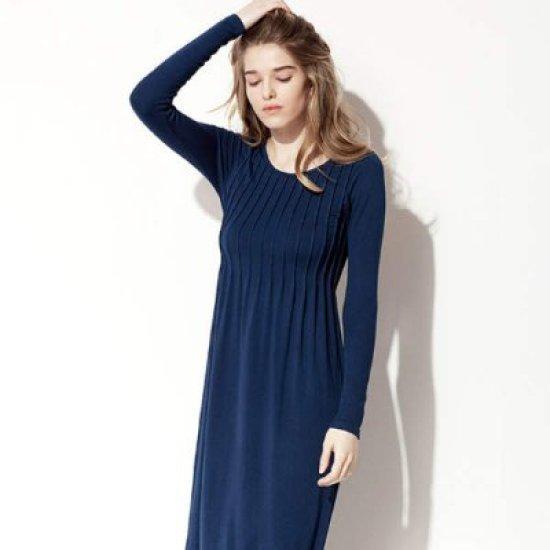 セカンドスキンオデトゥロングスリーブのドレスN6GFD5006 面ワンピース/ 韓国ファッション
