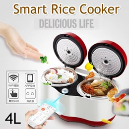Guoer S300 S400 Mini Rice Cooker Intelligent Electric Cooker WiFi 3L-4L 3-6 People Remote Electric