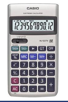 Casio HL122TV Small 12digit Calculator