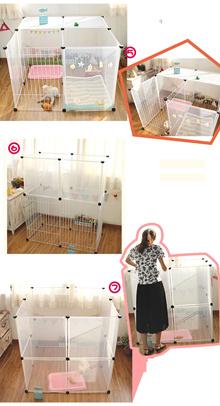 (per piece) combination of Transparent fence pet dog fence pet dog house nest dog gate pet gate door