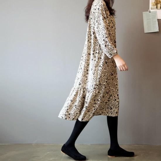ガールズデイリーオルボトゥAラインワンピース 綿ワンピース/ 韓国ファッション