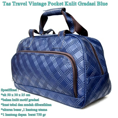 Tas Travel Vintage Pocket Kulit GRADASI