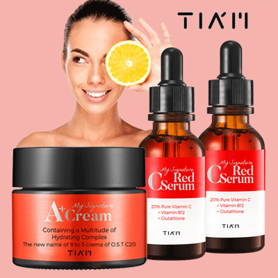 TIAM My Signature Red C Serum 30ml / My Signature Red A+ Cream 50ml