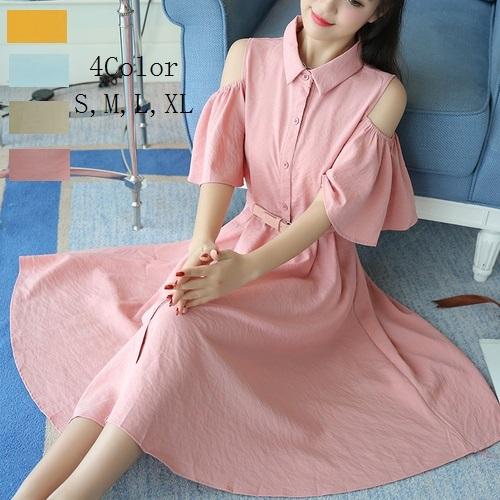 2017年夏の女性の韓国語のシングルブレストスリムストラップレスドレス妖精の気質のファッションのドレスは薄かったです韓国ファッション/ワンピース/花柄ワンピース/Vネックワンピース