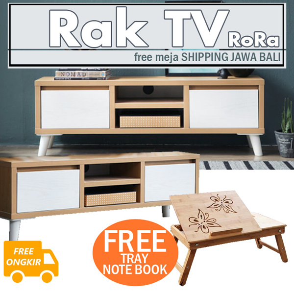 FREE SHIPPING/FREE MEJA LAPTOP[RANDOM] Rora 1000/1200/1500 Tv Cabinet Deals for only Rp1.599.000 instead of Rp1.599.000