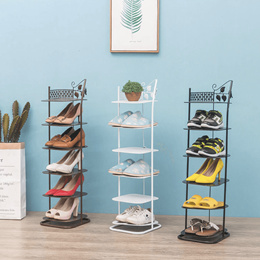 💖European-style Multi-Layer Simple Shoe Rack💖 Wrought Iron Dust and Small Living Room Corner 👠👠
