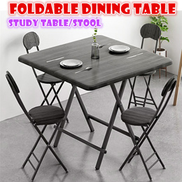 Foldable dining table stool study laptop desk portable strong and sturdy outdoor indoor Multipurpose