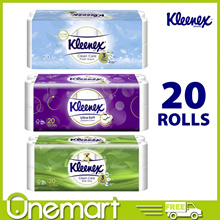 [KLEENEX]★ JUMBO ROLL ★ Ultra Soft Bathroom Tissues 20 Rolls (Regular/Aloe Vera/Clean Scent)