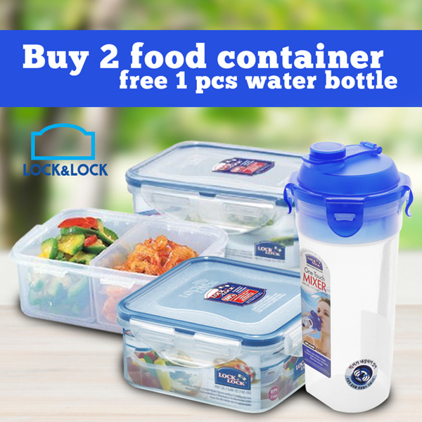 LOCKNLOCK PACKAGE PROMO Buy 2 CONTAINER 600ML dan 460ML GET FREE BOTOL MINUM Deals for only Rp158.000 instead of Rp158.000