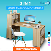 【2 IN 1】 Compact Computer Desk/Executive Table With Bookshelf/Study desk/Computer Table